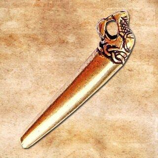 Drachenkopf - Verschluss Oseberg silberfarben