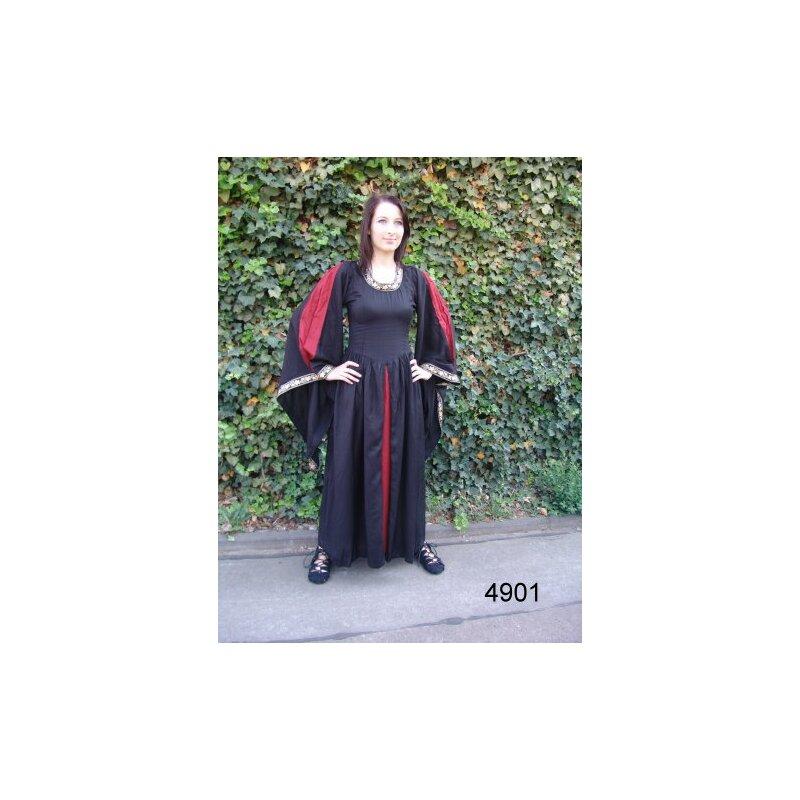 Kleid mit Bordüre und Einsatz XXL rot-weiss, 90,00