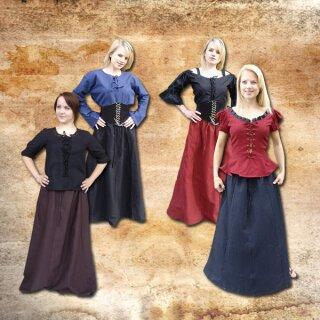 Skirt made from heavy cotton / linen XXL dark brown