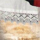 Unterrock aus Baumwolle XXL weiß