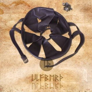 Helm-Inlet aus Leder - Inlay