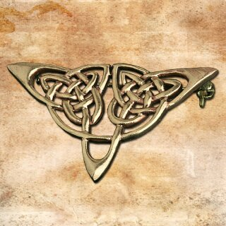 Triangular Celtic Knot, bronze