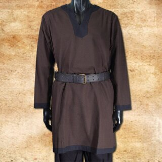 Tunic long-sleeved, brown-black S