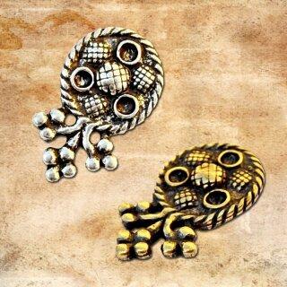Mittelalterliches Riemenende für 2 cm Gürtel bronze