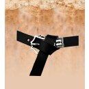 Mittelalter-Gürtel 1,5 cm + Riemende schwarz silber