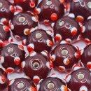Black & Red Glass Eye Bead