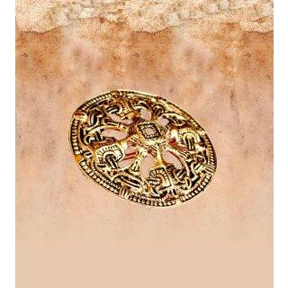 Wikinger-Scheibenfibel aus Norwegen Bronze
