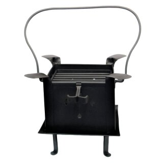 Portable fire pit and grill from steel