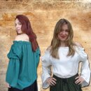 Blouse made from soft viscose
