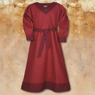 Vikingdress Solveig, red / wine red