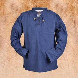 Kinder Mittelalter-Hemd Colin, blau