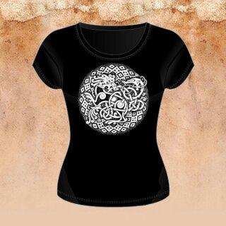 Girlie-Shirt Löwe und Schlange L