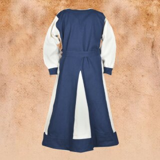 Kinderkleid Solveig blau/weiß