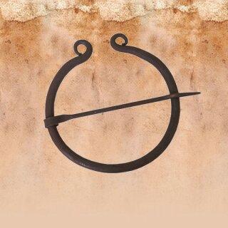 Ringfibel, rund, einfach eingerollt, handgeschmiedet