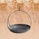 Medieval Hanging pan with hook, hand-forged steel