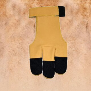 Shooting glove 3 fingers of nylon and leather