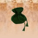Grüner Beutel aus Baumwolle