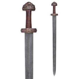 Wikingerschwert (Insel Eigg) mit Ledergriff, Damaststahl