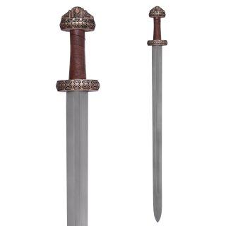 Wikingerschwert (Insel Eigg) mit Ledergriff, gehärtete Klinge