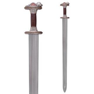 Vendelzeit-Schwert mit Scheide, Messingheft, verzinnt