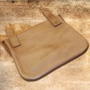 Leather bag with belt loops, square shape
