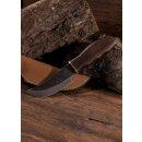 Messer mit Griff aus Shishamholz, ca. 20 cm, Lederscheide