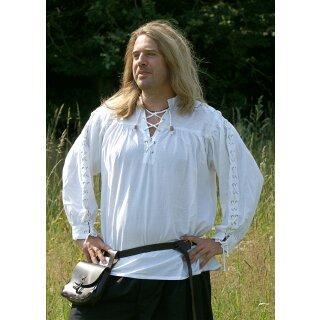 Mittelalter-Hemd, geschnürt, weiss, Gr. XL