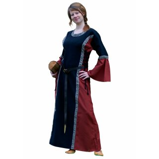 Mittelalter Kleid - Ella, schwarz/rot, Gr. S