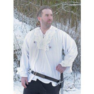Rüschenhemd, weiß, Gr. XXXL