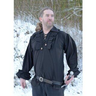 Rüschenhemd, schwarz, Gr. XXXL