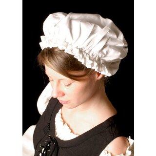 Mittelalterliche Damenhaube, weiß