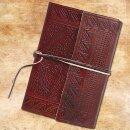 Lederbuch, mittelalterliches Motiv