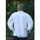 Spätmittelalter-Hemd aus Baumwolle, natur, Gr. XXL