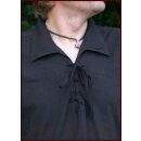 Spätmittelalter-Hemd aus Baumwolle, schwarz, Gr. L