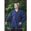 Spätmittelalter-Hemd aus Baumwolle, blau, Gr. XL