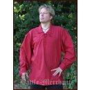 Spätmittelalter-Hemd aus Baumwolle, rot, Gr. XL
