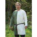 Mittelalter Tunika aus Baumwolle, grün/weiß