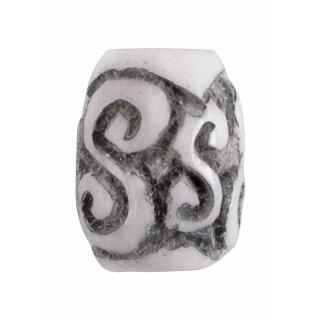 Keltische Bartperle mit Spiralmuster aus Knochen