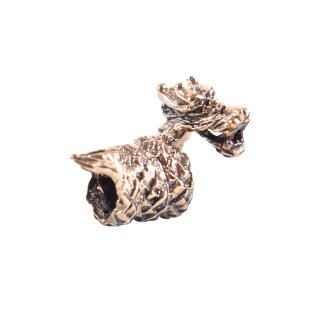Wikinger Bartschmuck / Bartperle, Kleiner Drache aus Bronze
