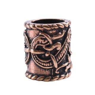 Großer Wikinger Haarschmuck mit Drachen-Motiv, Bronze