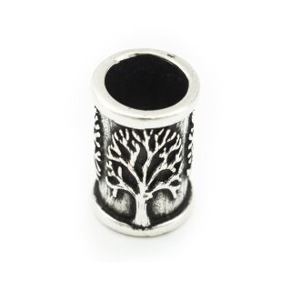 Mittelalterliche Bartperle mit Lebensbaum aus Silber