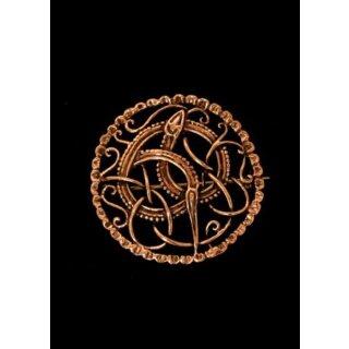 Wikinger Brosche Midgardschlange aus Bronze
