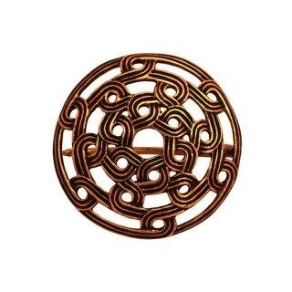 Wikinger Fibel mit Knotenmuster aus Bronze