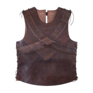 Lederrüstung / Brustpanzer mit gekreuzten Bändern
