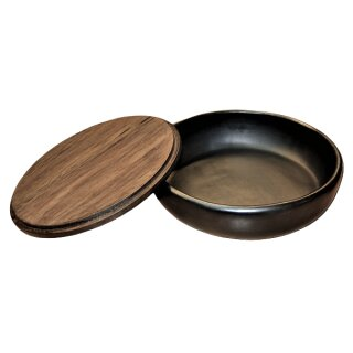 Clay Container with wooden lid, big