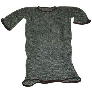 Kettenhemd, ID8, verzinkt, Lederrand