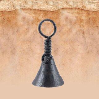 Geschmiedete Klingel aus Eisen, ca. 12 cm hoch