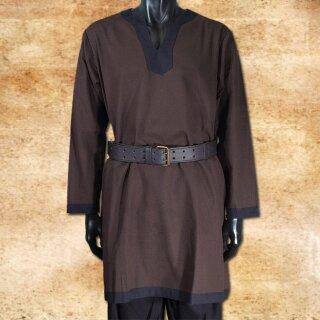 Tunic long-sleeved, brown-black