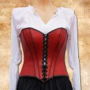 Leather Bodice Red