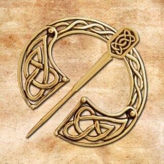 Brosche Keltische Knoten 48, massiv